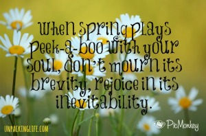 Spring Peekaboo Quote